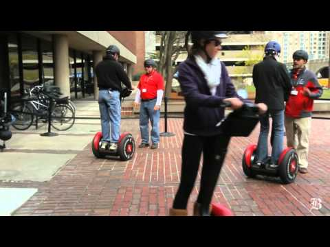 Rolling tour of Cambridge on a Segway offered by the Museum of Science
