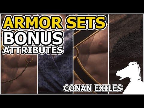 ARMOR SETS Bonus Attributes   CONAN EXILES