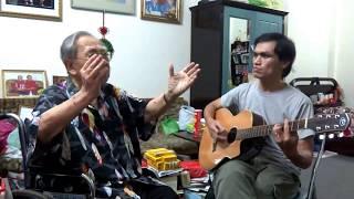 Cố GS Trần Văn Khê với Cố Huynh Trưởng GĐPT Nguyễn Ngọc Hải trong bài Tình Ca của Cố NS Phạm Duy!