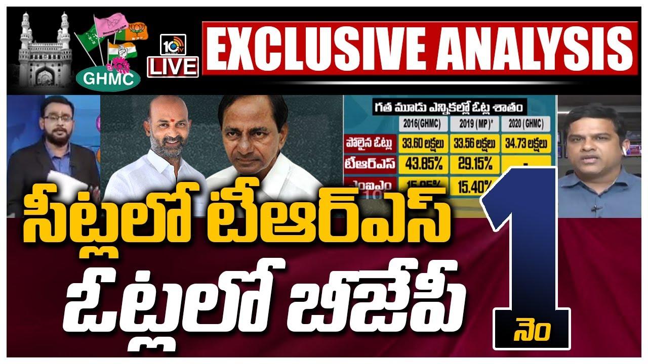 సీట్లు టీఆర్ఎస్వి..ఓట్లు బీజేపీవి: LIVE: GHMC Election Results Live Updates | 10TV News