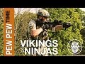 Robo-Airsoft: Pew Pew Time - Vikings and Ninjas - Airsoft Gameplay