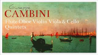 Cambini Flute Oboe Violin Viola & Cello Quintets - Baroque Renaissance Instrumental Music