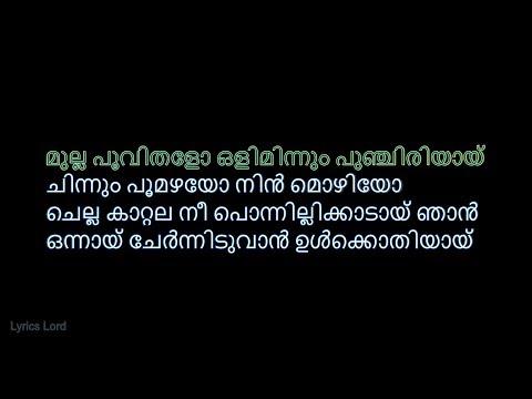 മുല്ല പൂവിതളോ KARAOKE (Abrahaminte Santhathikal) Mulla Poovithalo Karaoke With Malayalam Lyrics