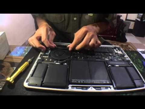 How to clean macbook pro retina fan