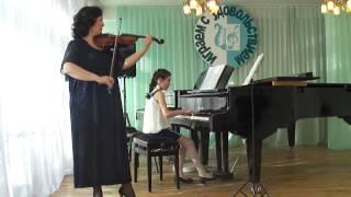 Япрынцева Екатерина 10 лет Смирнова Мелодия Мачавариани Новогодняя полька