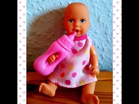 c5730b0346 New Born Baby Mini Puppe mit Zubehör - YouTube