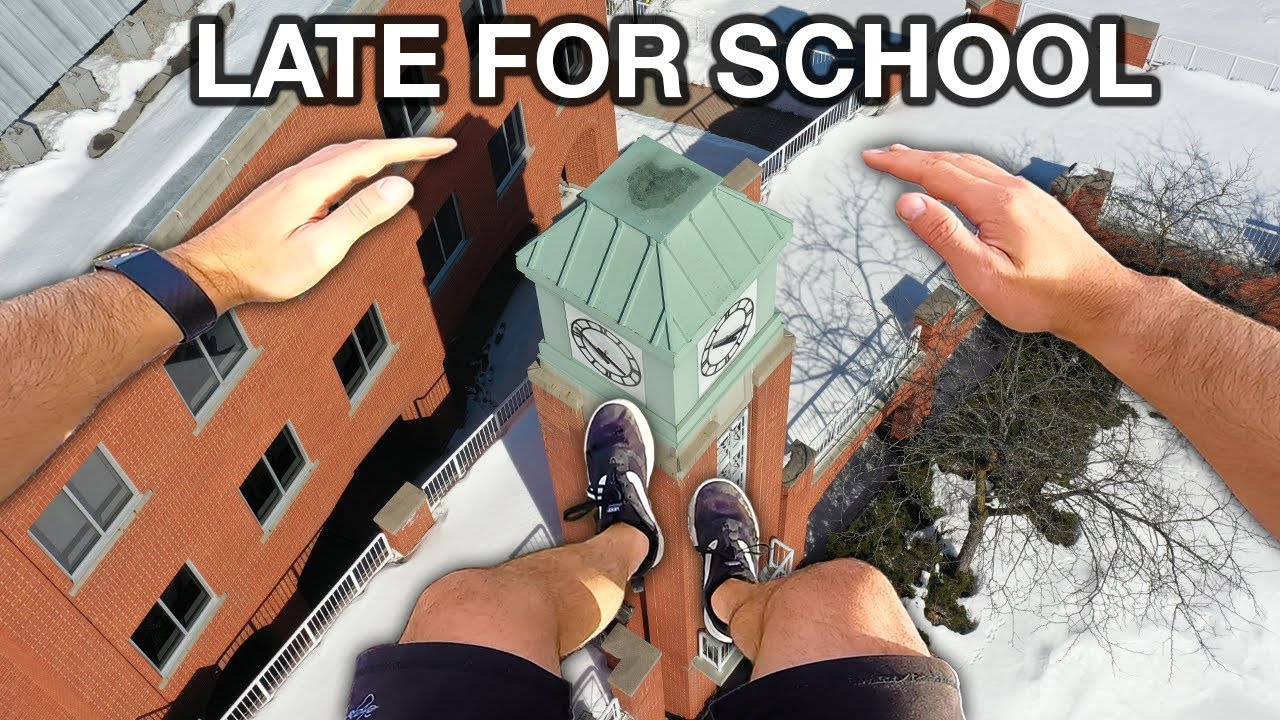 Download Late For School Parkour POV (Winter Edition)