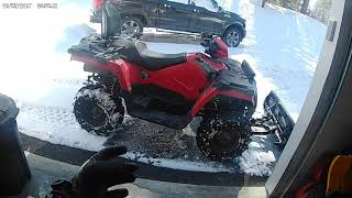 Plowing snow with a 2018 Polaris Sportsman 570 with Glacier plow
