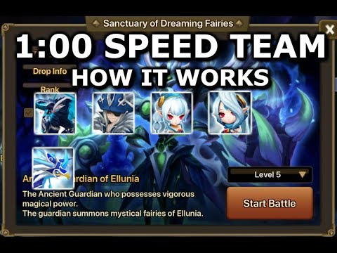 MY 90%+ SPEED TEAM - SANCTUARY OF DREAMING FAIRIES - Summoners War