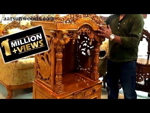 #103 Assembly for Wood Temple Puja Unit Designer Mandir India DIY Ideas aarsunwoods.com