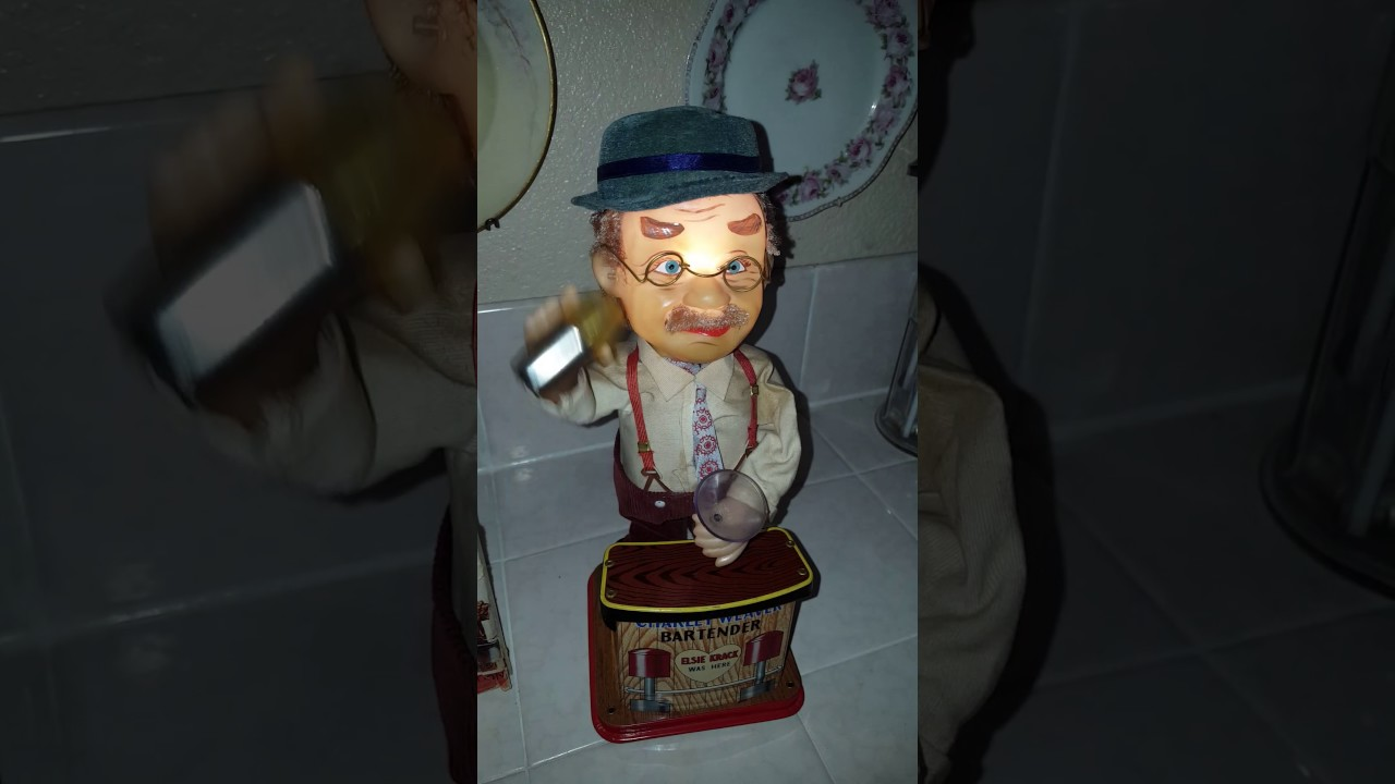 Charley Weaver Bartender Battery Operated Toy Japan 1950s Youtube