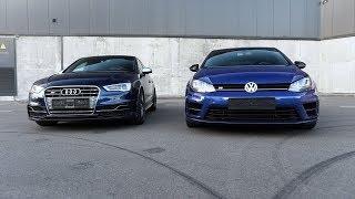Машины клоны, VW Golf 7R vs Audi S3 8V, сравнение и тюнинг