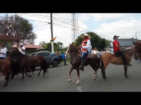 CABALGATA EN EL CANTON EL CARMEN MANABI 09/07/2017