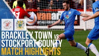 Brackley Town Vs Stockport County - Match Highlights - 09.03.2019