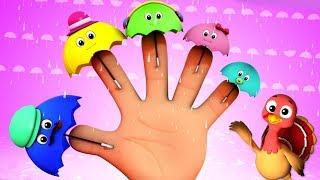 зонтик палец семья | детские рифмы | детские песни | Umbrella Finger Family
