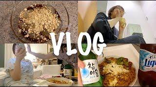 VLOG 브이로그 | 퇴근하고 집에서 와라비떡(투명떡)…