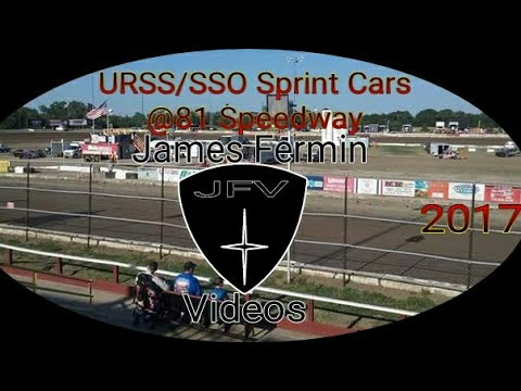 URSS/SSO Sprint Cars #6, Feature, 81 Speedway, 2017