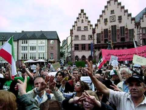 "25.07.09: Iran ""Global Action Day"" - ""Imagine"" by John Lennon Frankfurt am Main / Germany"