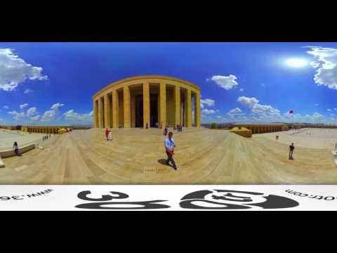 Anitkabir (Ataturk) with a 360 degree video panorama