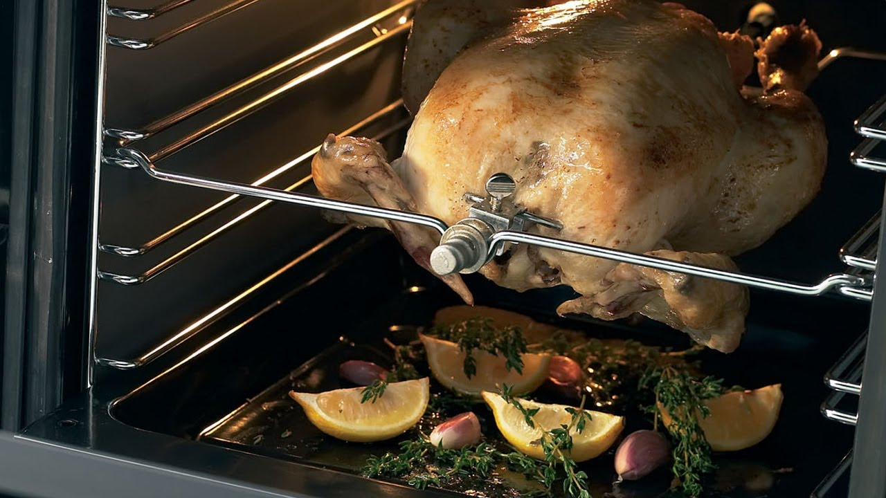 Range Style Cookers >> Rotisserie - YouTube