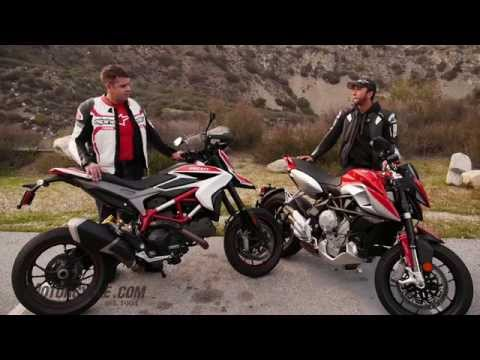 2014 Ducati Hypermotard SP vs. MV Agusta Rivale