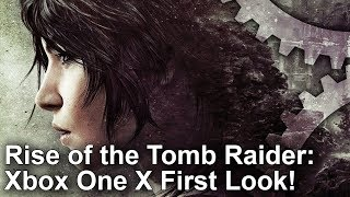 [4K] Rise of the Tomb Raider: Xbox One X vs PS4 Pro First Look Graphics Comparison!