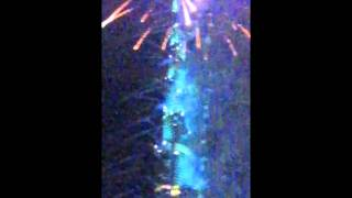 New Year fireworks at world's tallest tower
