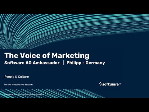 The Voice of Marketing | Software AG's ambassador Philipp | Germany