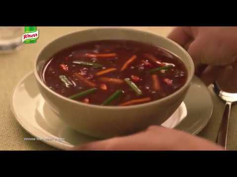 Restaurant like Knorr Hot & Sour Soup at home (Hindi).