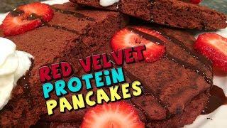 Red Velvet Protein Pancakes Recipe (high Fiber)