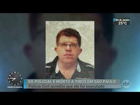 Ex-policial civil é morto a tiros na capital paulista | SBT Brasil (25/04/18)