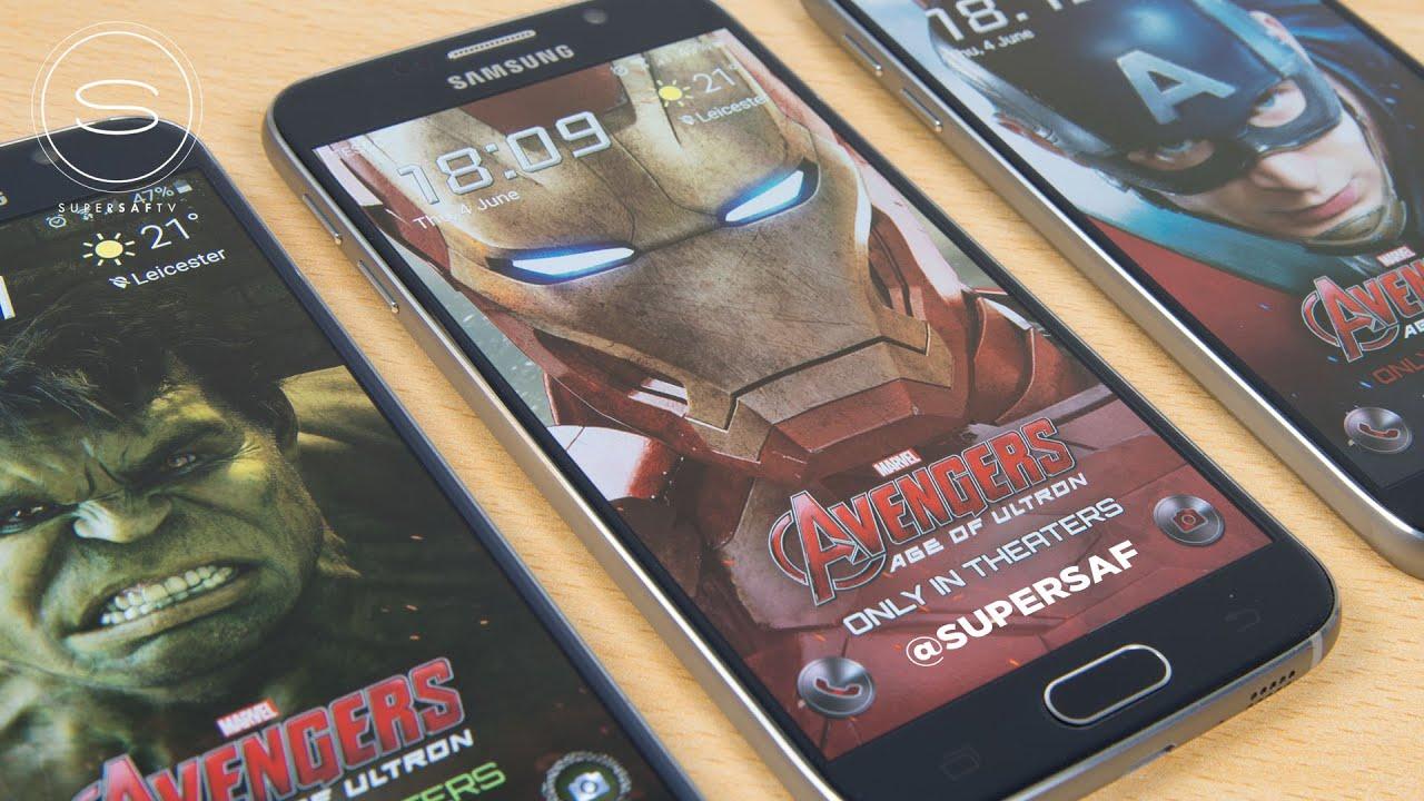 Iphone X Live Wallpaper Not Working Galaxy S6 Iron Man Hulk Avengers Edition Free Themes