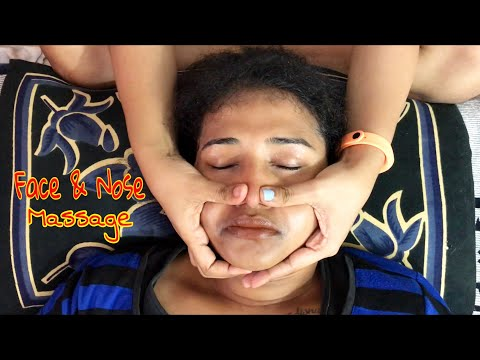 The Face and Nose Massage to an Indian Girl | ASMR | Puremassage