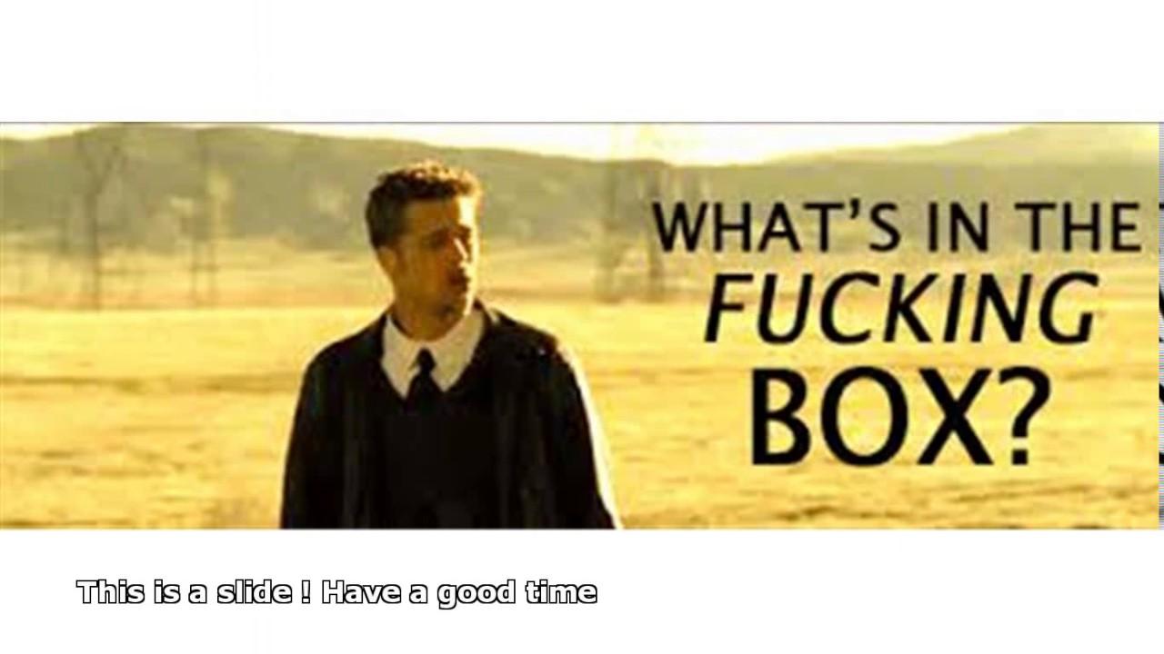 Brad Pitt Seven Whats In The Box