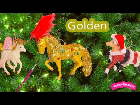 breyer-holiday-stablemates---christmas-golden-jewel-stallion-ornament-activity-diy-kit-review-video