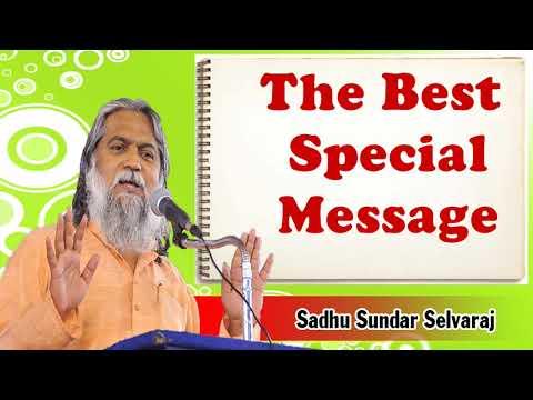 Sundar Selvaraj Sadhu August 15, 2018 | The Best Special Message