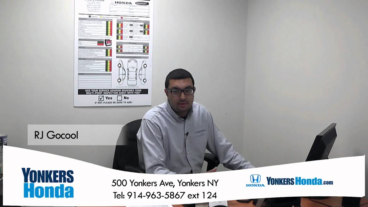 RJ Gocool Yonkers Honda Service Center 500 Yonkers Ave - YouTube