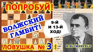 Шахматы: Белые жертвуют ФЕРЗЯ в дебюте Волжский гамбит!