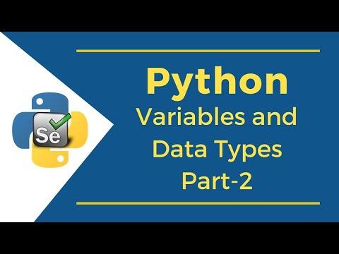 Selenium with Python Tutorial | Python Variables & Data Types Part 2 | Full Course to Python thumbnail