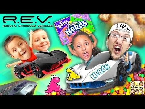 Thumbnail: R.E.V. Cars Battle w/ NERDS CANDY All Over The Floor! (FGTEEV Mysterious Family Foggy Fun Mess!)