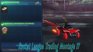 Getting The New Black Twinzer and Crimson Centro Wheels!  Rocket Leauge Trading Montage #17