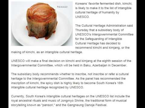 Kimchi Likely to be Recognized as UNESCO Intangible Cultural Heritage