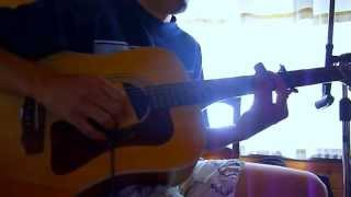 Freestyle Acoustic 6-String, Metal Pipe Slide Guitar Jam with 5th Fret Capo