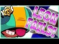 New LEON Fails, Funny Moments, LOL and Trolls from Brawl Stars!