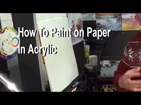 How to Paint On Paper with Acrylic, painting for beginners | Acrylic painting,clive5art