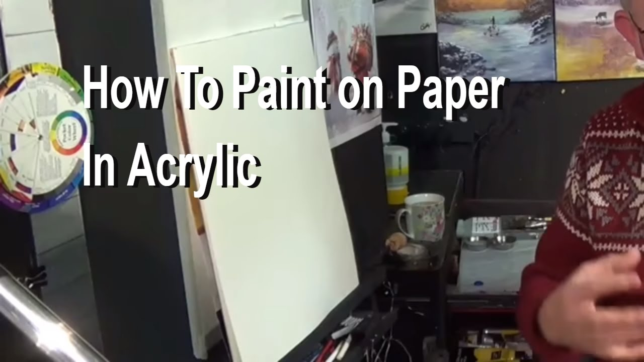 how to paint on paper with acrylic painting for beginners acrylic