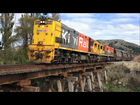 KiwiRail Freight Train Rescue Mission (HD)