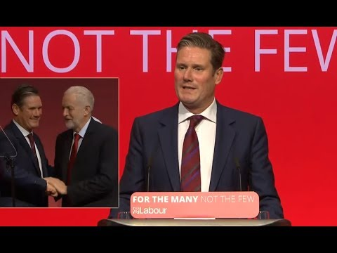Sir Keir Starmer addressing the Labour Party conference 2017 (09/25/2017)