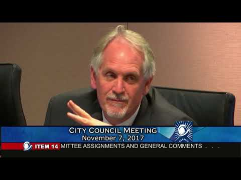 Cupertino City Council Meeting 11/7/2017 Closing Comments