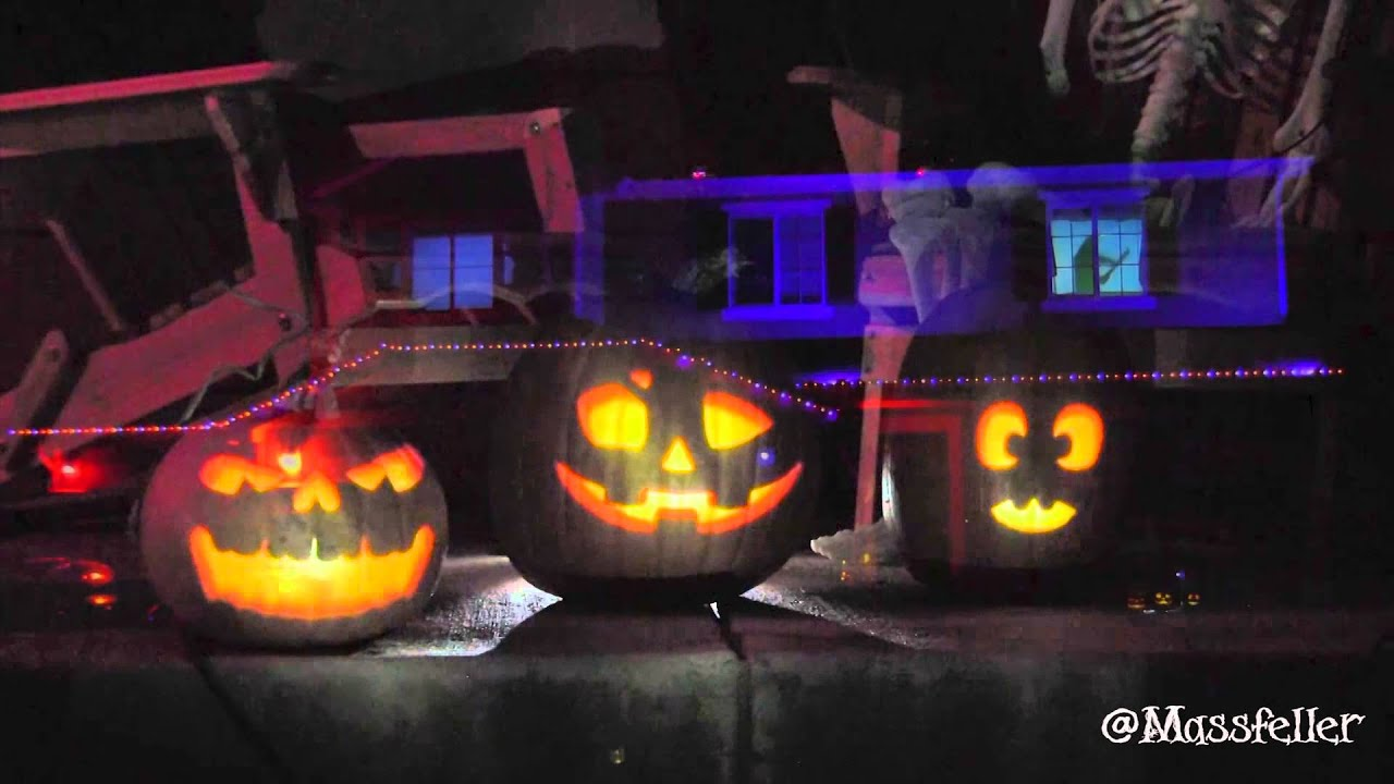 192 lights 4 projectors 5 laptops u003d the best halloween display ever youtube